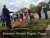 Brewery Vivant Plants Trees